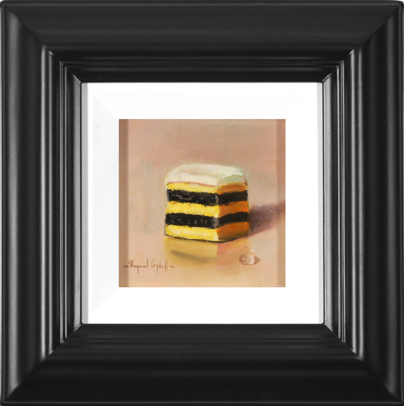 Raymond Campbell, Original oil painting on panel, Double Stack Liquorice Allsort  Click to enlarge