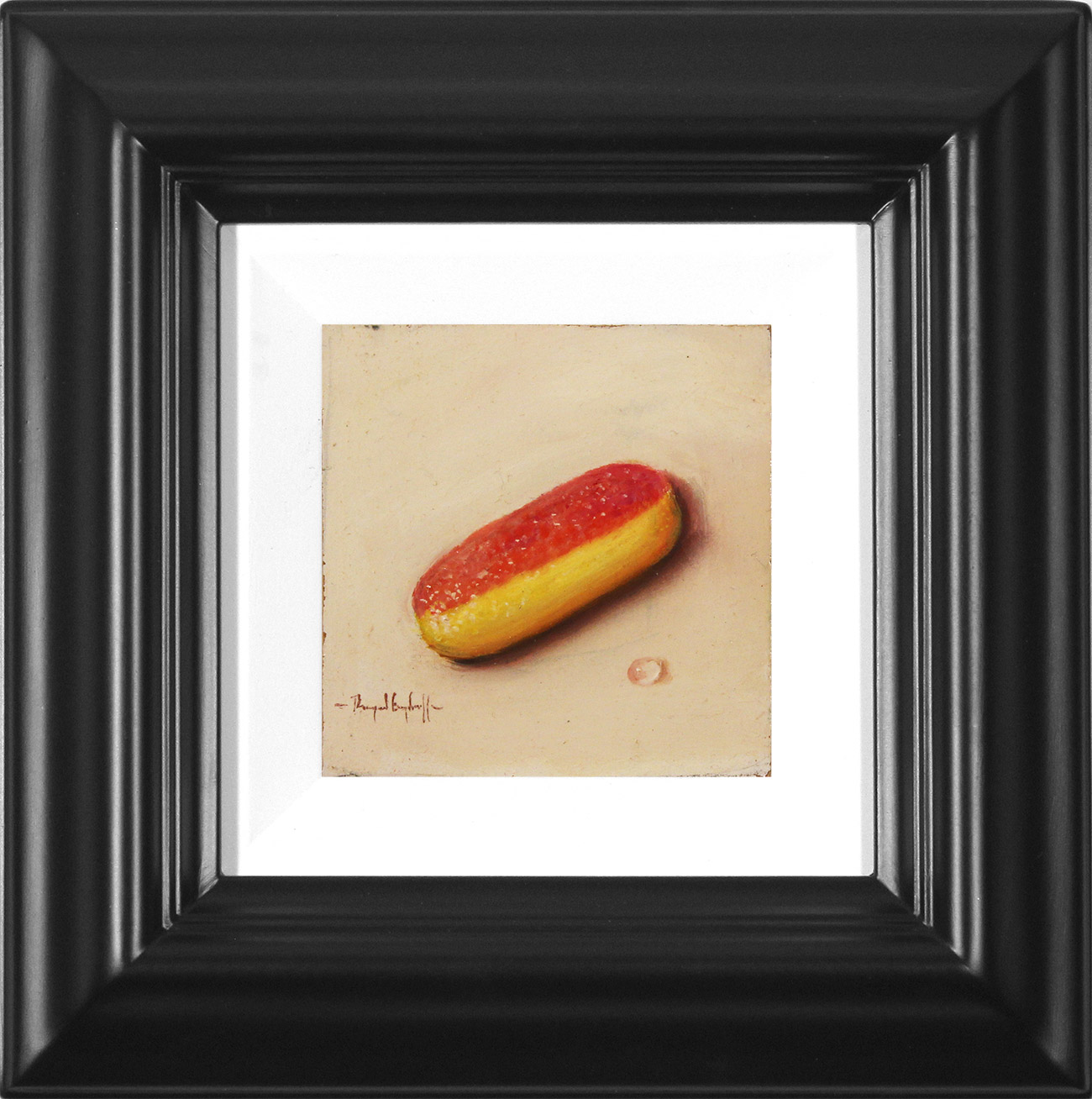 Raymond Campbell, Original oil painting on panel, Rhubarb and Custard  Click to enlarge