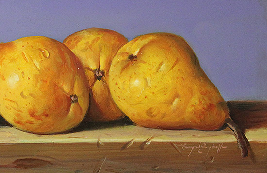 Raymond Campbell, Original oil painting on panel, Pears Signature image. Click to enlarge