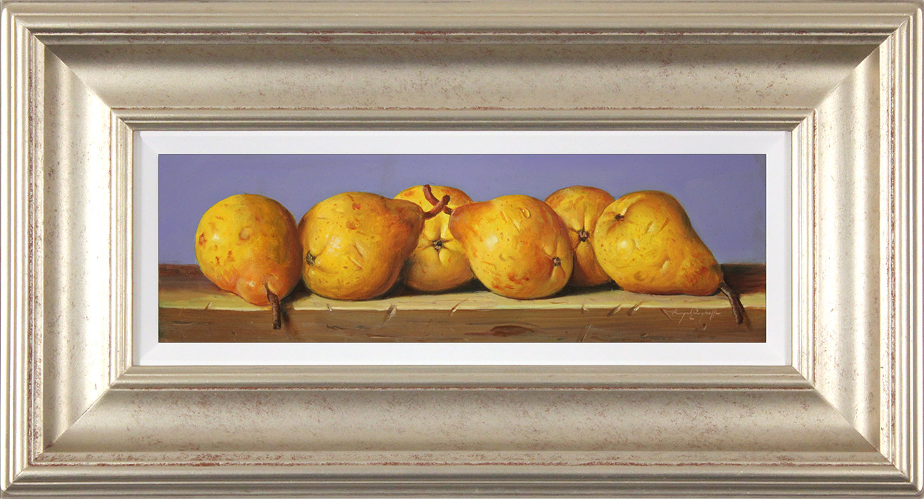 Raymond Campbell, Original oil painting on panel, Pears Click to enlarge