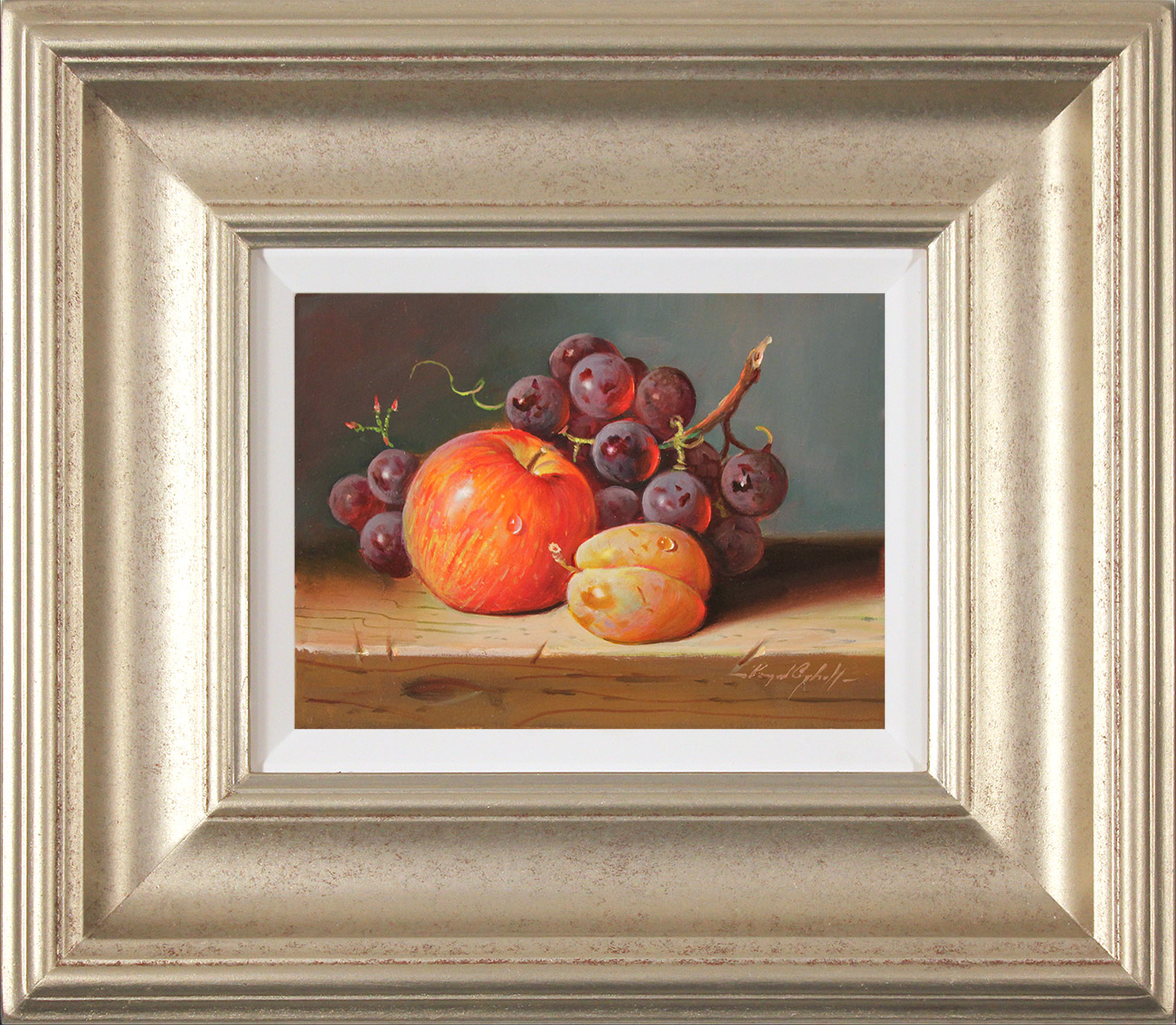 Raymond Campbell, Original oil painting on panel, Fresh Fruit  Click to enlarge