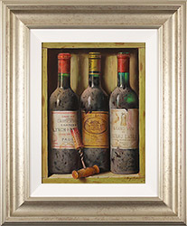 Raymond Campbell, Original oil painting on panel, Treasures of the Cellar  Medium image. Click to enlarge