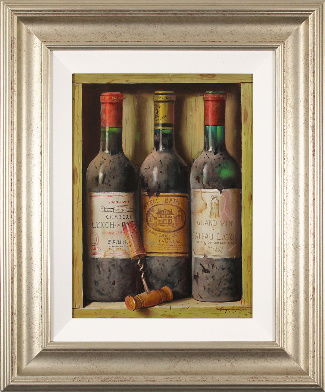 Raymond Campbell, Original oil painting on panel, Treasures of the Cellar  Click to enlarge