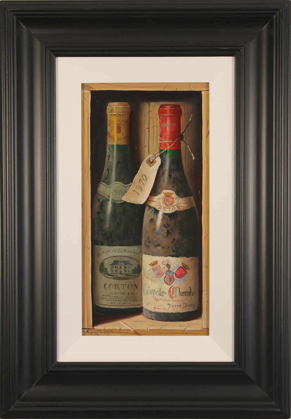 Raymond Campbell, Original oil painting on panel, Corton Grand Cru, 1989 Click to enlarge