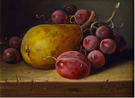 Raymond Campbell, Original oil painting on panel, Still Life No frame image. Click to enlarge