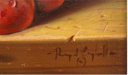 Raymond Campbell, Original oil painting on panel, Still Life Signature image. Click to enlarge