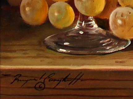 Raymond Campbell, Original oil painting on panel, A Dusty Inheritance Signature image. Click to enlarge