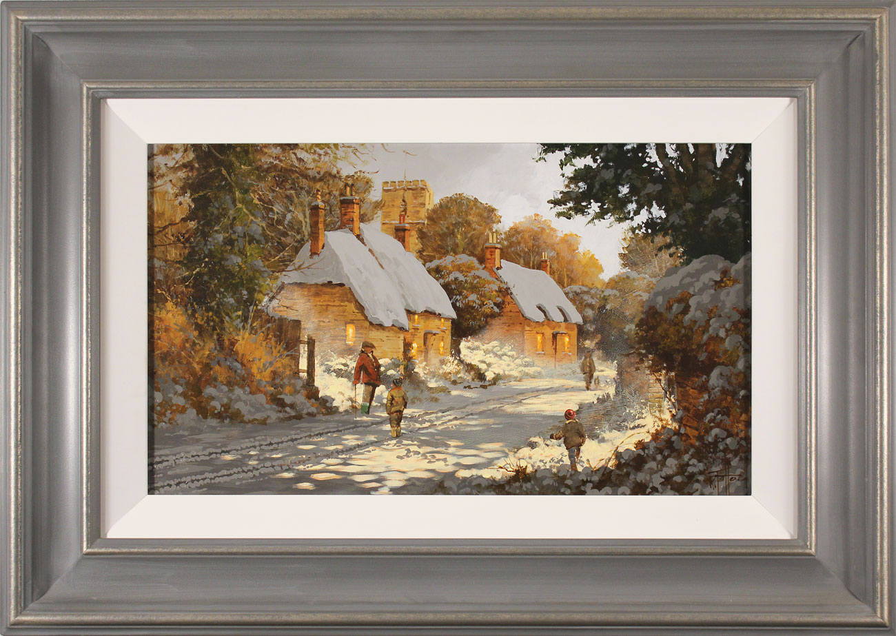 Richard Telford, Original oil painting on panel, Boxing Day Stroll Click to enlarge