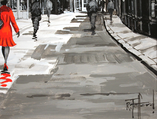 Richard Telford, Original oil painting on panel, Stroll Down The Shambles Signature image. Click to enlarge