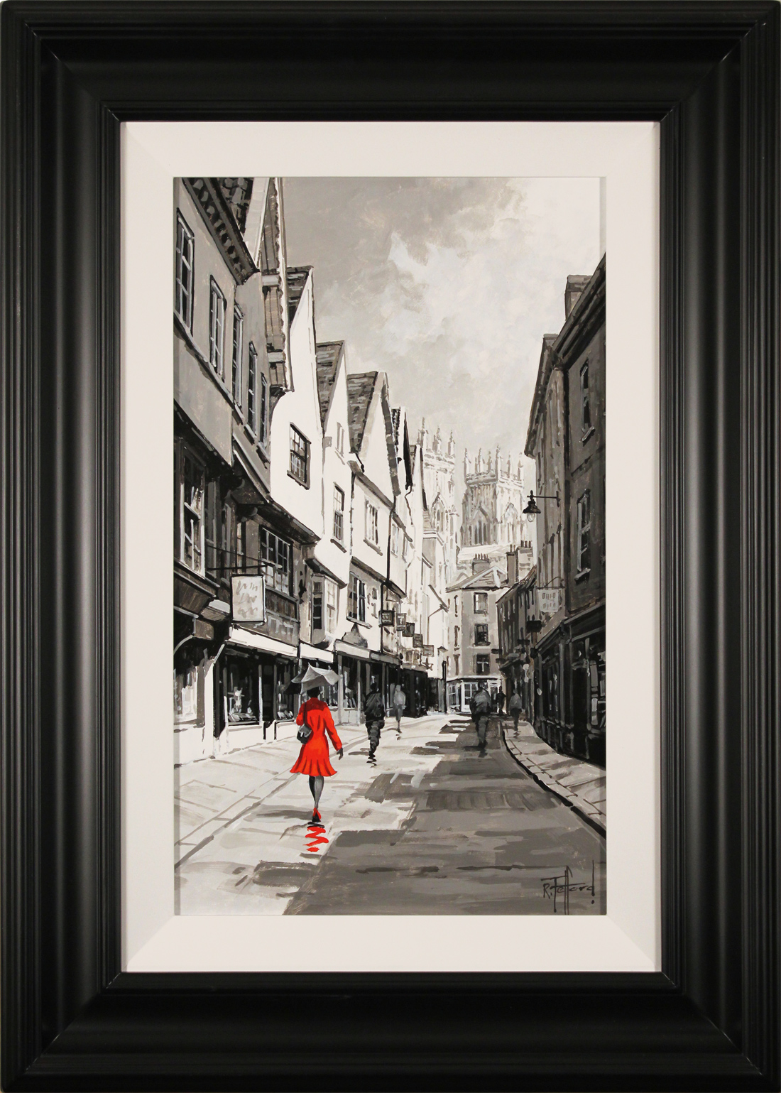 Richard Telford, Original oil painting on panel, Stroll Down The Shambles Click to enlarge