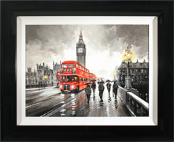 Richard Telford, Original oil painting on panel, Westminster Bridge, London