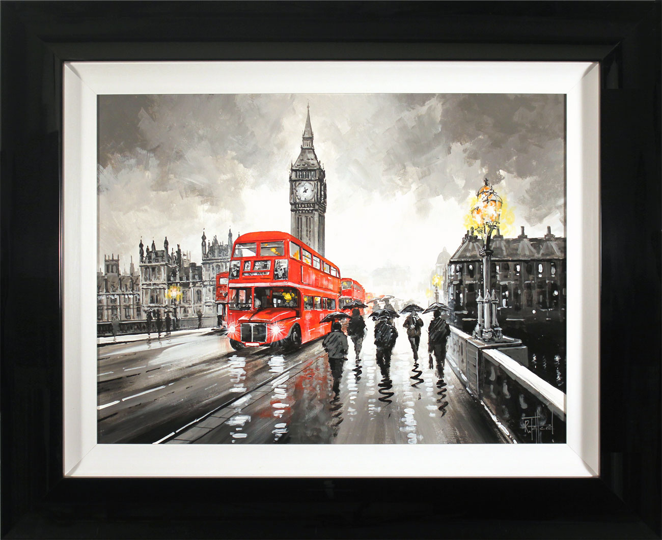 Richard Telford, Original oil painting on panel, Westminster Bridge, London Click to enlarge