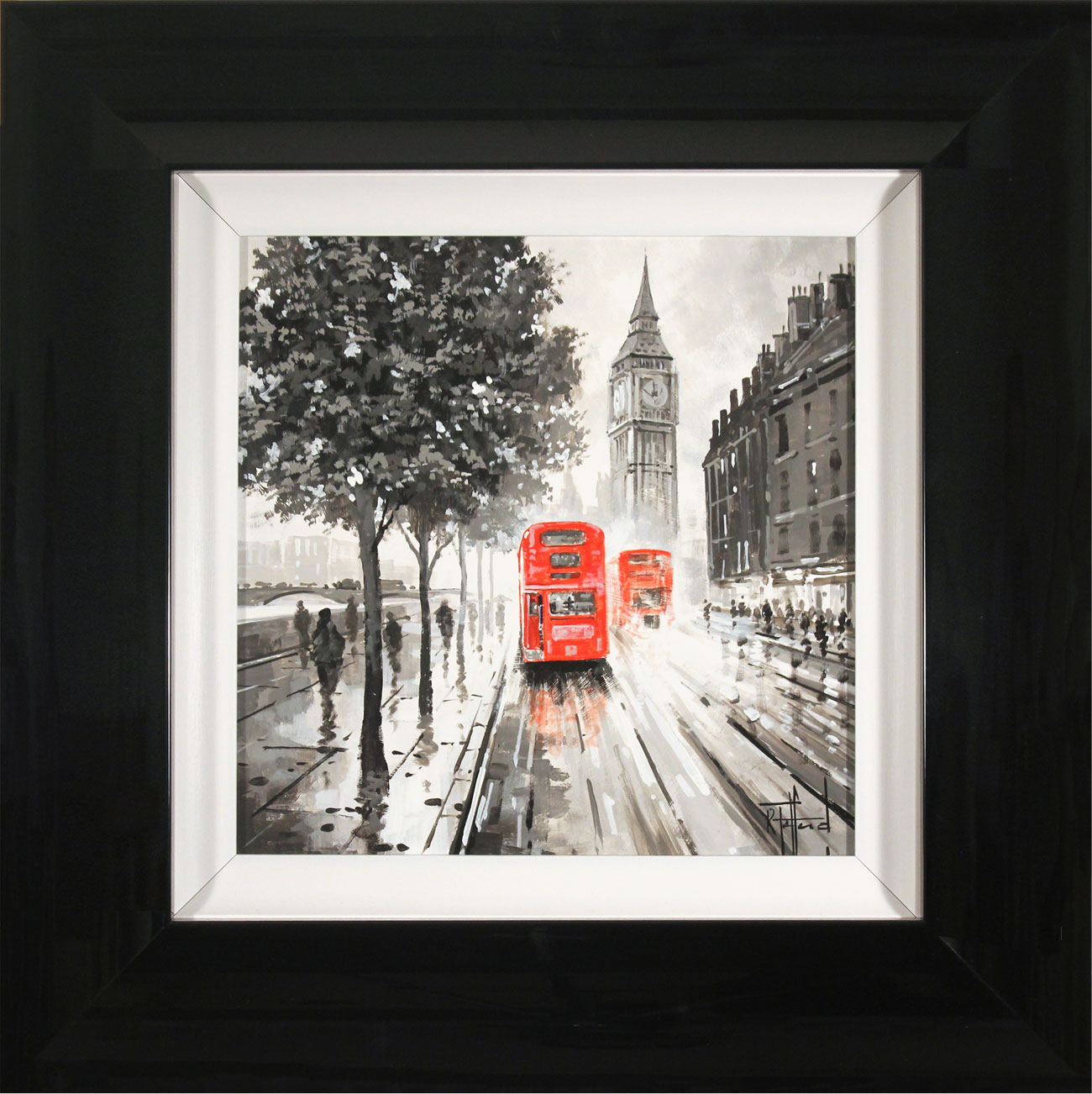 Richard Telford, Original oil painting on panel, London Calling Click to enlarge