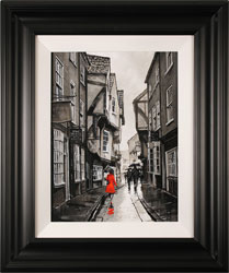 Richard Telford, Original oil painting on panel, The Shambles, York