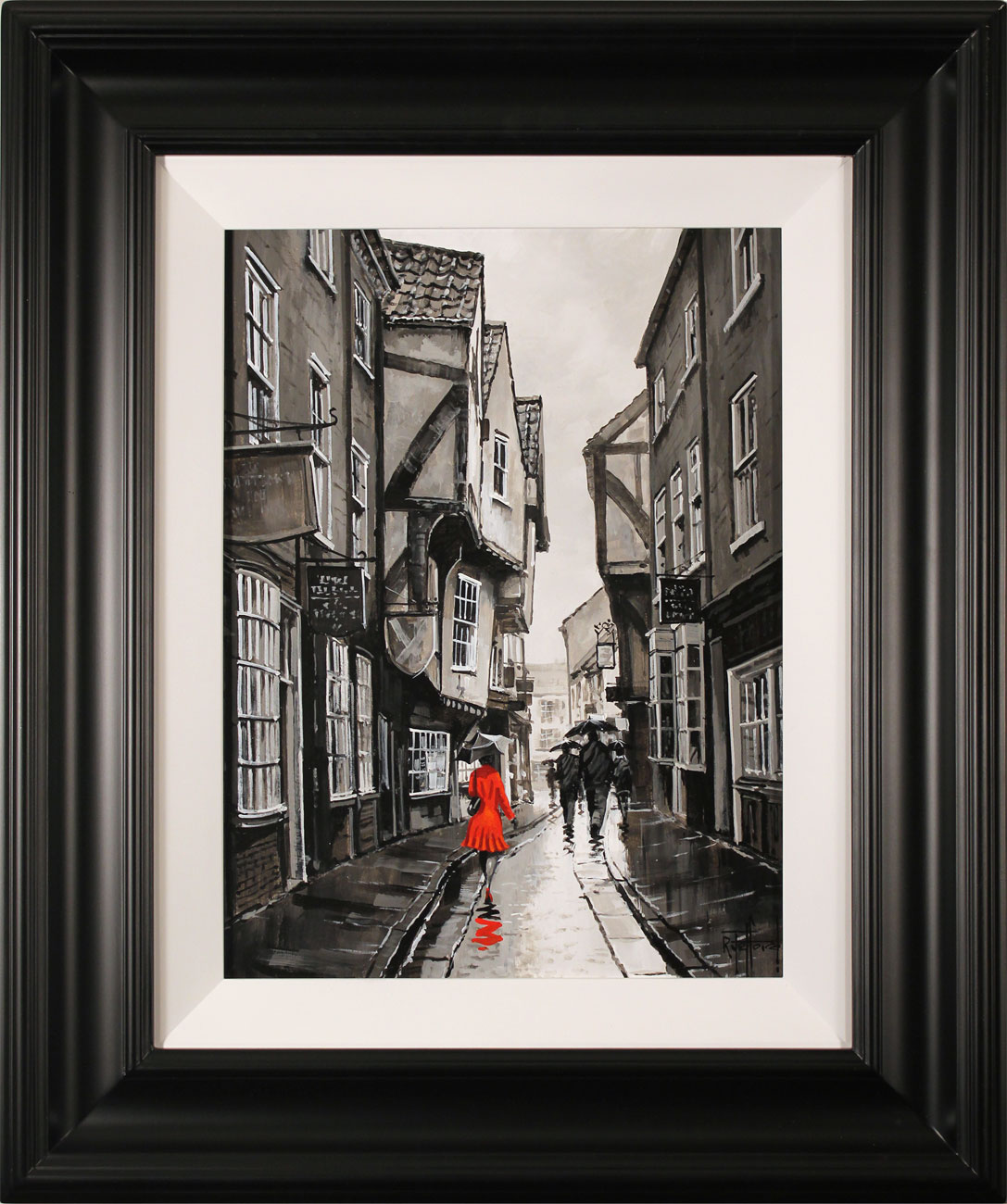Richard Telford, Original oil painting on panel, The Shambles, York Click to enlarge