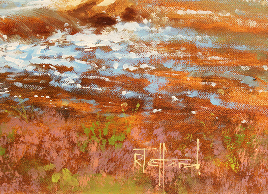 Richard Telford, Original oil painting on canvas, Country Scene Signature image. Click to enlarge