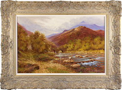 Richard Telford, Original oil painting on canvas, Country Scene Medium image. Click to enlarge
