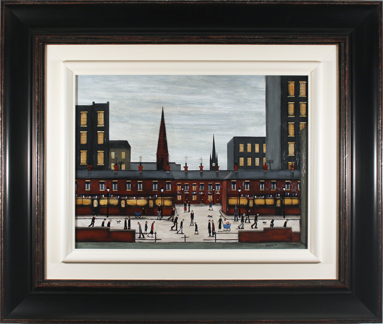 Sean Durkin, Original oil painting on panel, The Town Centre Click to enlarge
