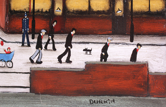 Sean Durkin, Original oil painting on panel, The Town Centre Signature image. Click to enlarge