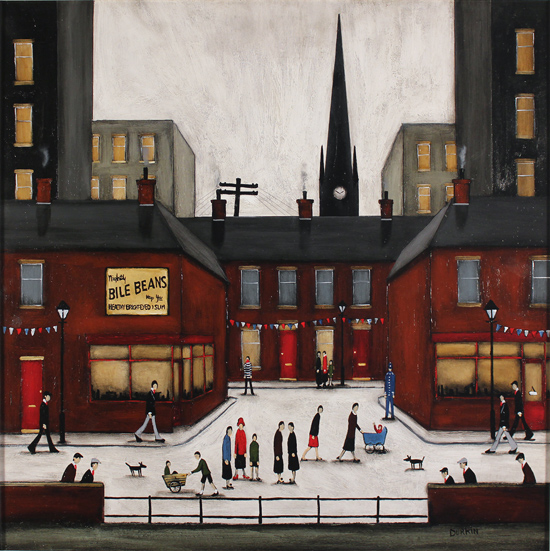 Sean Durkin, Original oil painting on panel, Yorkshire Jubilee No frame image. Click to enlarge