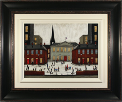 Sean Durkin, Original oil painting on panel, The Town Square