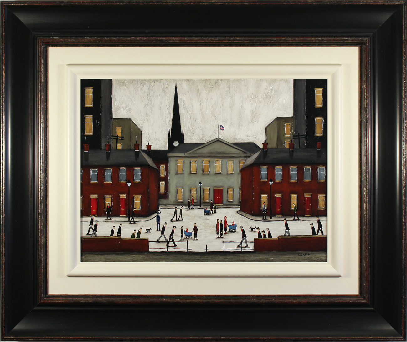 Sean Durkin, Original oil painting on panel, The Town Square Click to enlarge