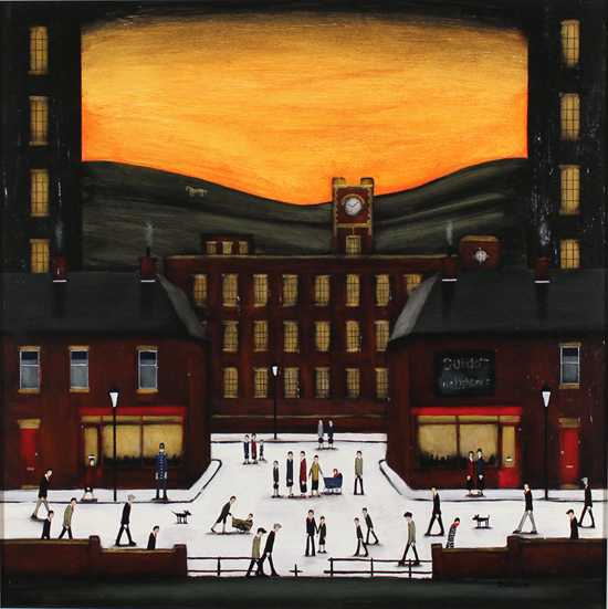Sean Durkin, Original oil painting on panel, Narratives of Yorkshire No frame image. Click to enlarge