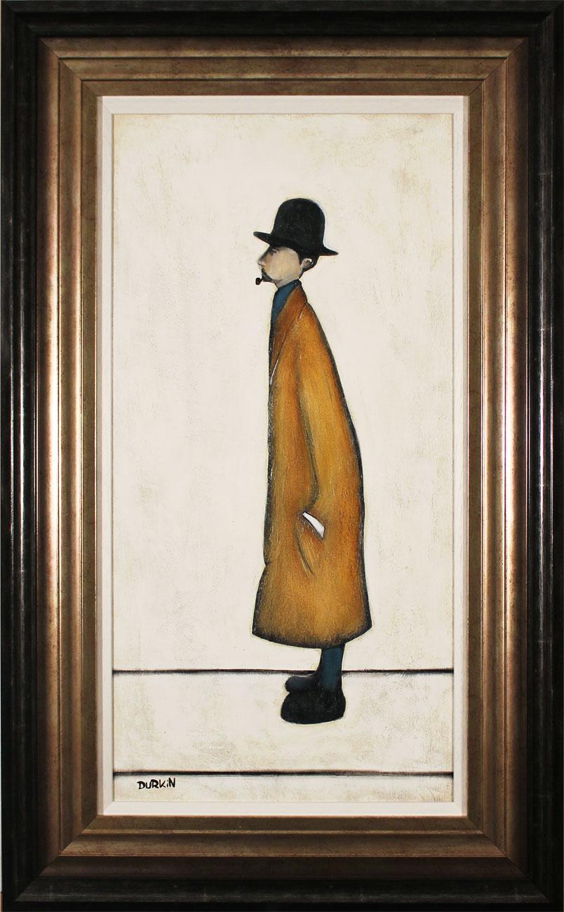 Sean Durkin, Original oil painting on panel, Gentleman Looking at Everything Click to enlarge