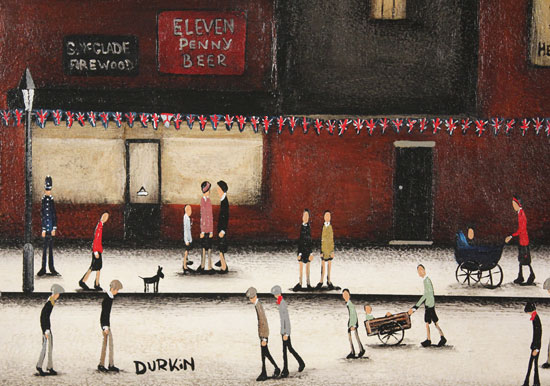 Sean Durkin, Original oil painting on panel, Eleven Penny Beer Signature image. Click to enlarge