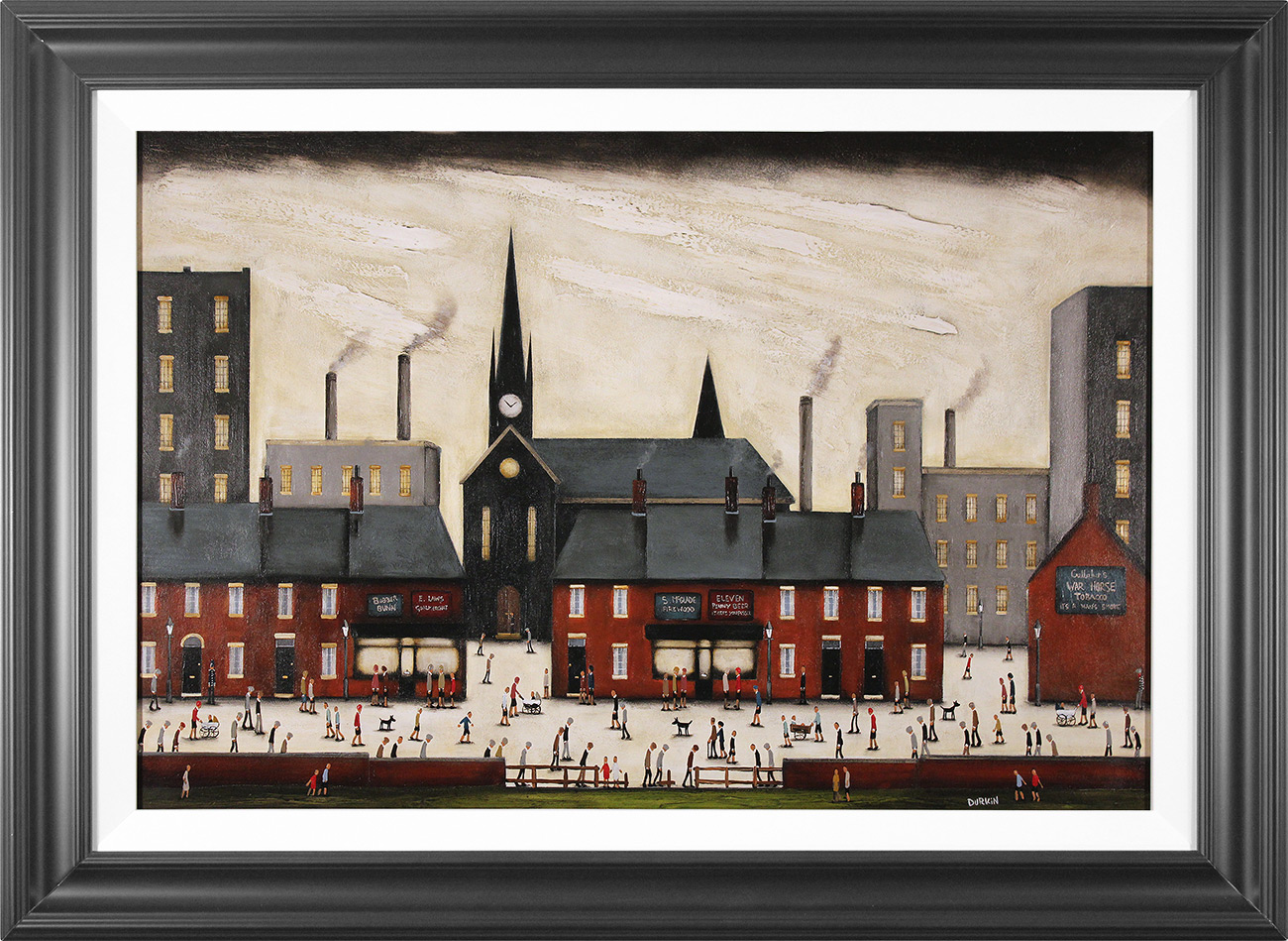 Sean Durkin, Original oil painting on panel, Tales of the Town Click to enlarge