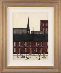 Sean Durkin, Original oil painting on panel, Street Party