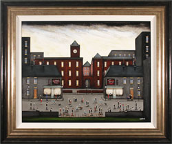 Sean Durkin, Original oil painting on panel, Life at the Factory
