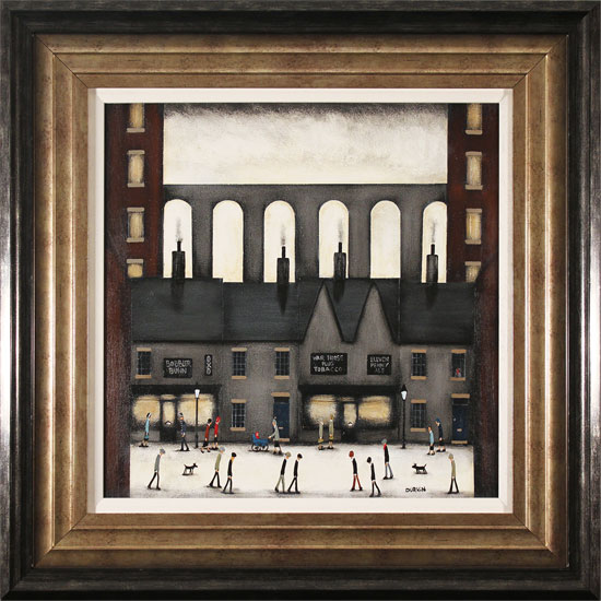 Sean Durkin, Original oil painting on panel, The Four Chimneys