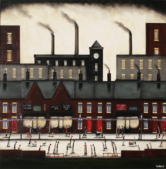 Sean Durkin, Original oil painting on panel, Northern Industry No frame image. Click to enlarge