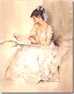 Sir William Russell Flint, Limited edition print, Girl Reading