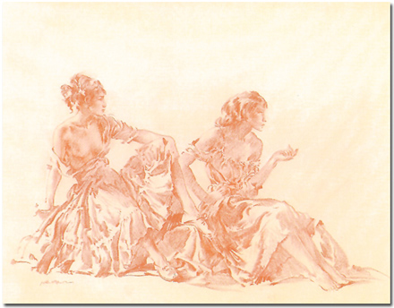 Sir William Russell Flint, Limited edition print, Cecilia and Joanna