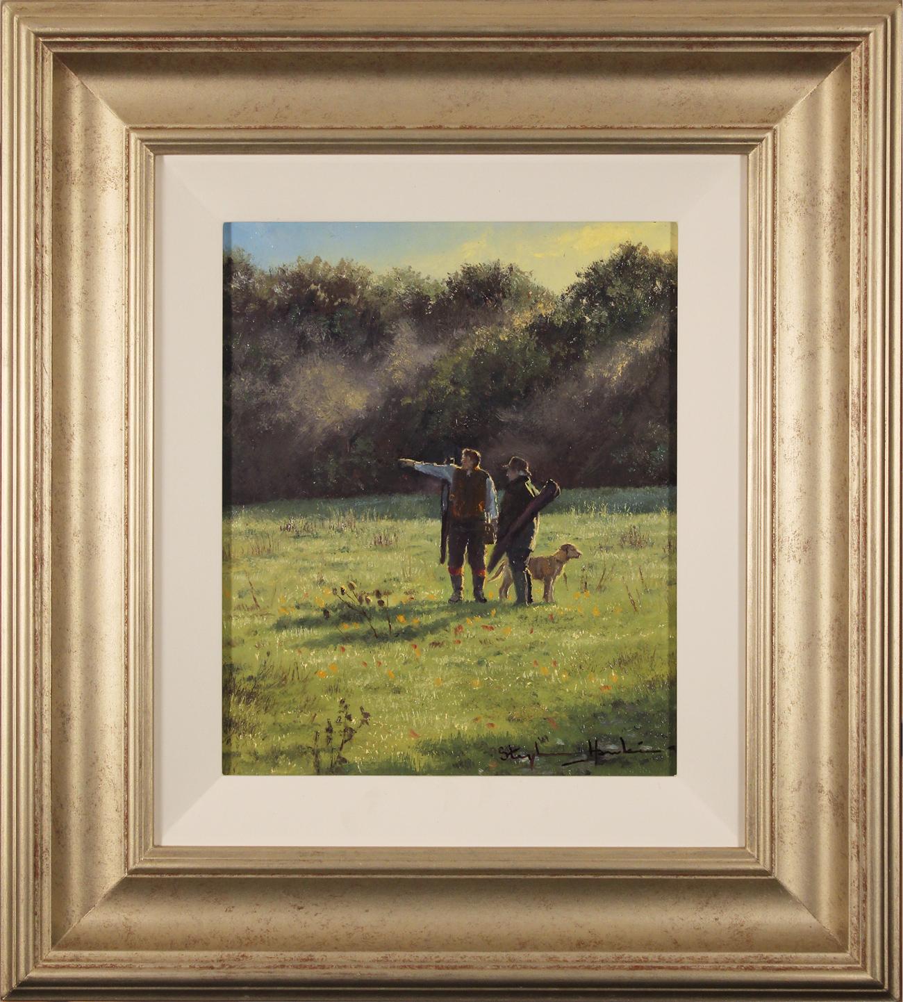 Stephen Hawkins, Original oil painting on panel, The Gamekeepers Click to enlarge