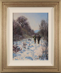 Stephen Hawkins, Original oil painting on panel, Bright Winter Afternoon