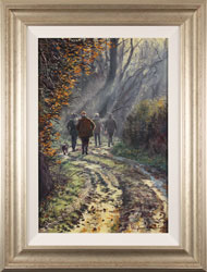Stephen Hawkins, Original oil painting on canvas, Brisk Autumn Walk