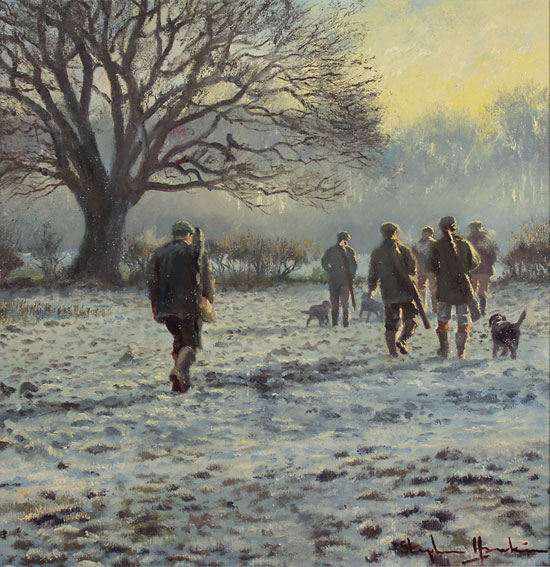 Stephen Hawkins, Original oil painting on canvas, Winter Morning, North Yorkshire No frame image. Click to enlarge