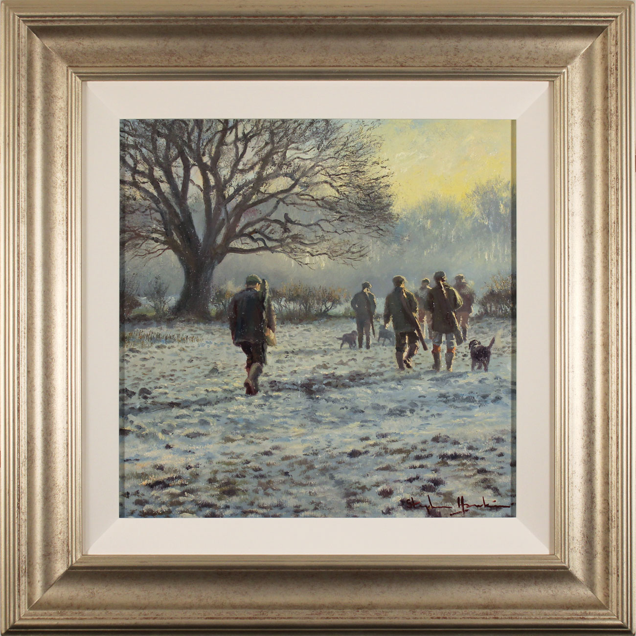 Stephen Hawkins, Original oil painting on canvas, Winter Morning, North Yorkshire Click to enlarge