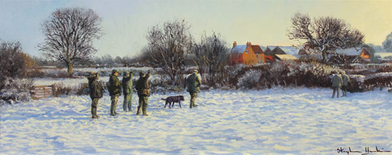 Stephen Hawkins, Original oil painting on canvas, Winter Morning No frame image. Click to enlarge