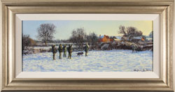 Stephen Hawkins, Original oil painting on canvas, Winter Morning Medium image. Click to enlarge