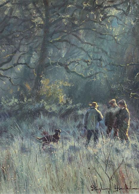 Stephen Hawkins, Original oil painting on canvas, Brisk Morning No frame image. Click to enlarge
