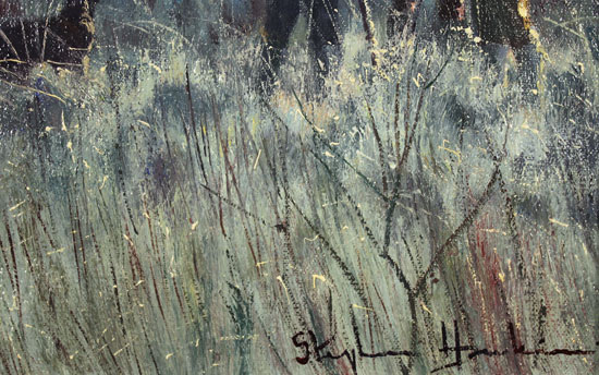 Stephen Hawkins, Original oil painting on canvas, Brisk Morning Signature image. Click to enlarge