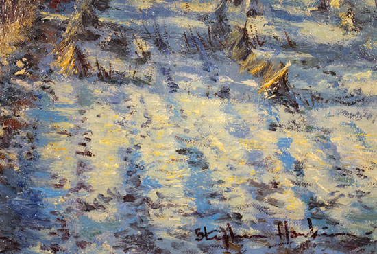 Stephen Hawkins, Original oil painting on canvas, First Frost Signature image. Click to enlarge