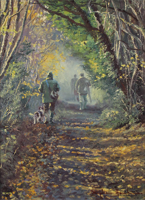 Stephen Hawkins, Original oil painting on canvas, Woodland Way No frame image. Click to enlarge
