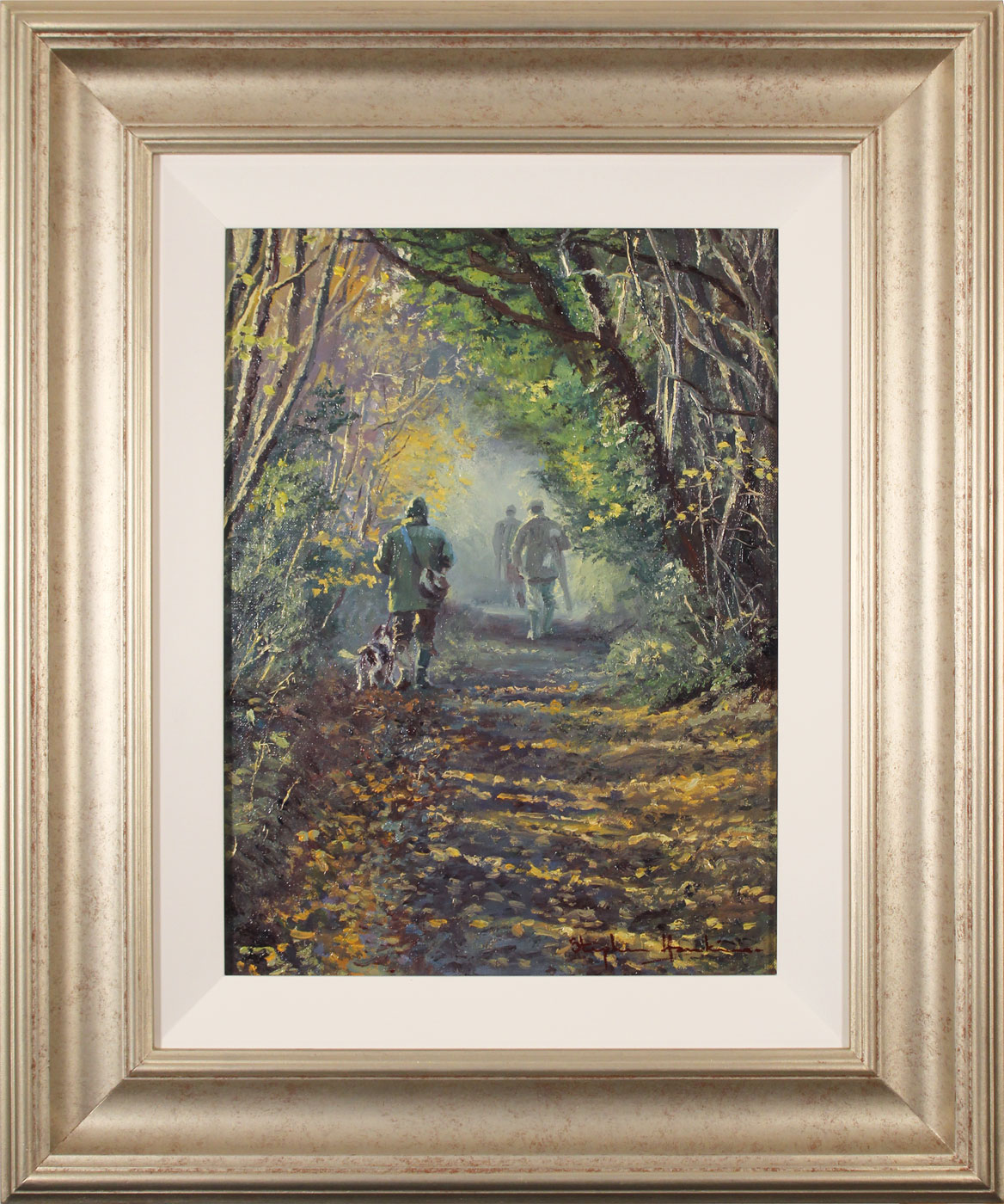Stephen Hawkins, Original oil painting on canvas, Woodland Way Click to enlarge