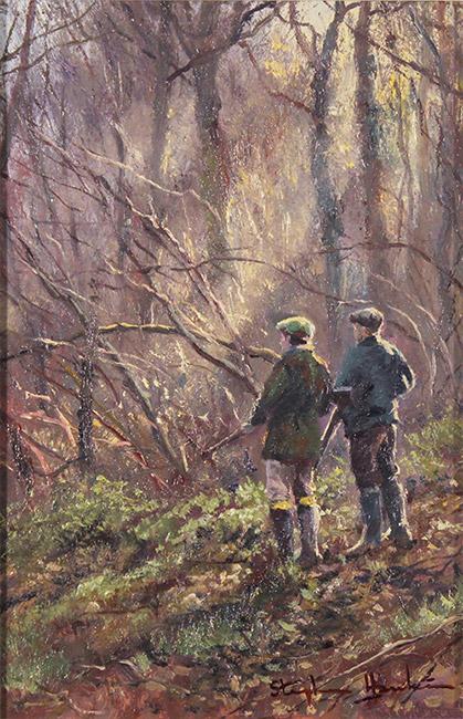 Stephen Hawkins, Original oil painting on panel, Daybreak Drive  No frame image. Click to enlarge