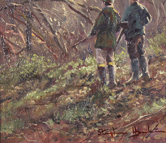 Stephen Hawkins, Original oil painting on panel, Daybreak Drive  Signature image. Click to enlarge
